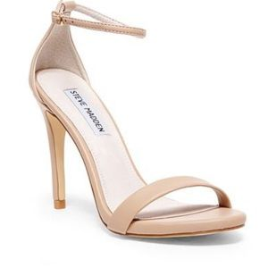 Steve Madden Stacy nude patent leather heels